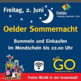Stadtbummeln bei Oelder Sommernacht am 2. Juni