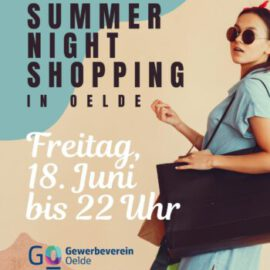 Freitag 18. Juni bis 22 Uhr Summer Night Shopping in Oelde